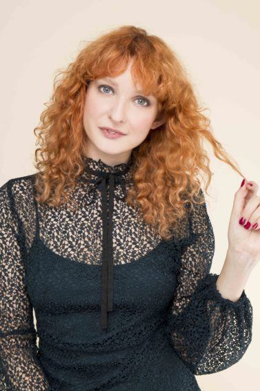 curl enhancing shampoo: All Things Hair - IMAGE - red curly medium length hair fringe ginger