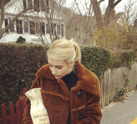 Thanksgiving hairstyles: All Things Hair - IMAGE - celebrity Instagram Emma Roberts blonde ponytail