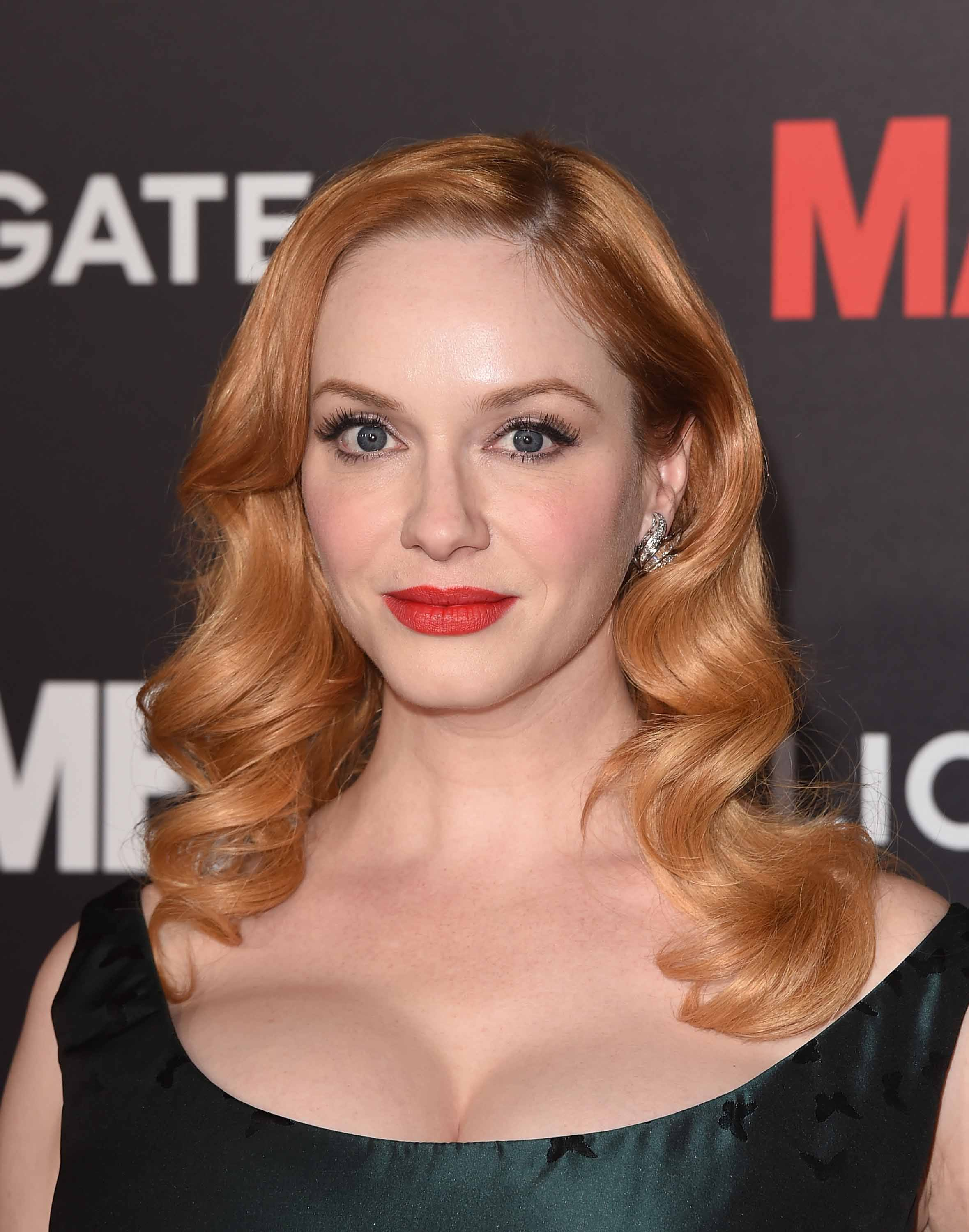 Famous redheads: All Things Hair - IMAGE - Christina Hendricks rose gold wavy hair
