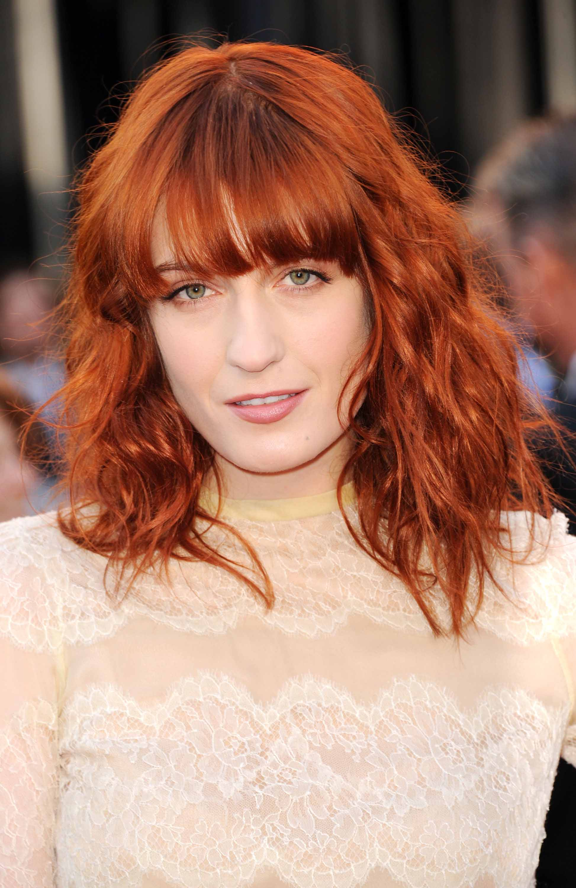 Famous redheads: All Things Hair - IMAGE - Florence Welch red wavy fringe