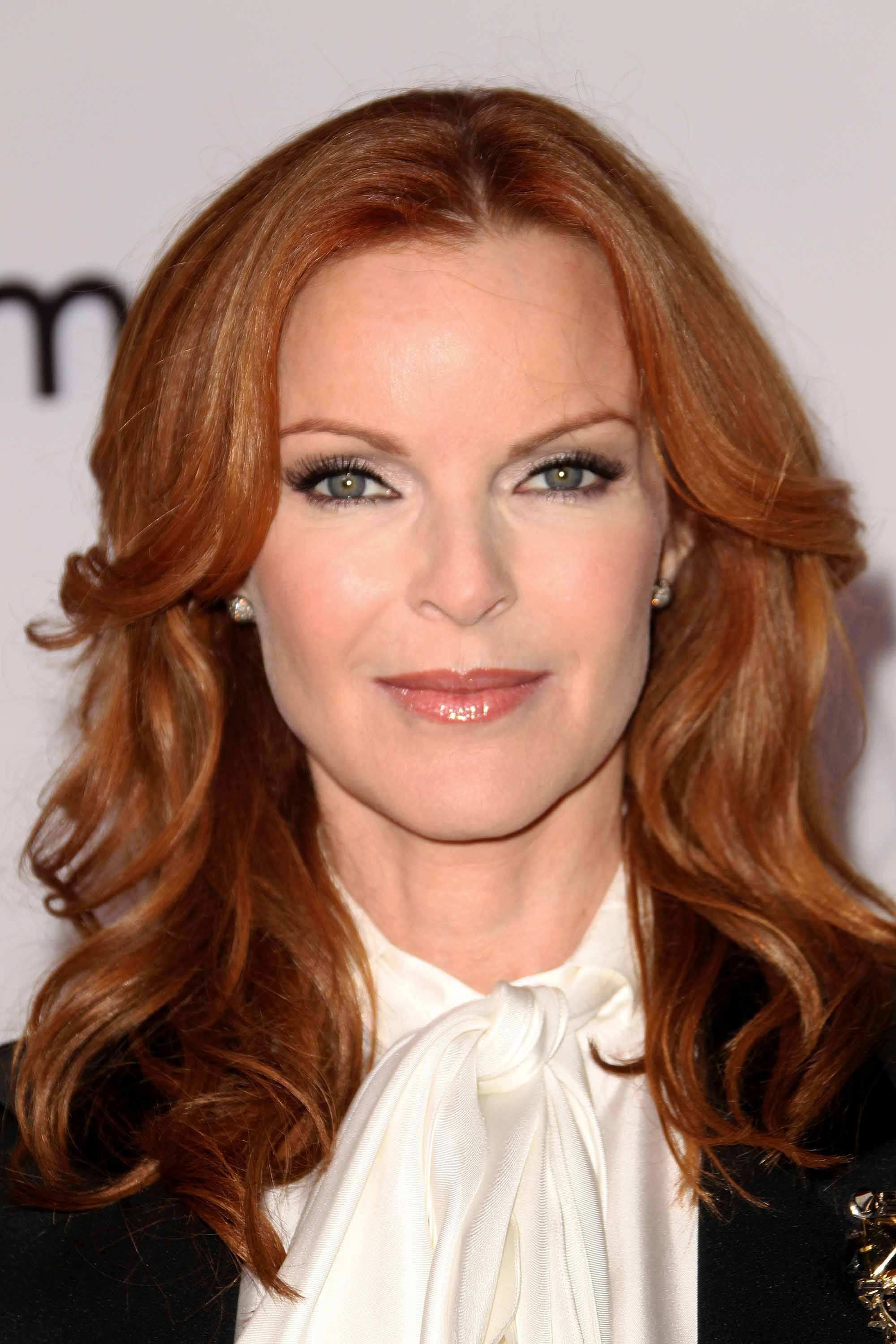 Famous redheads: All Things Hair - IMAGE - Marcia Cross wavy red hair