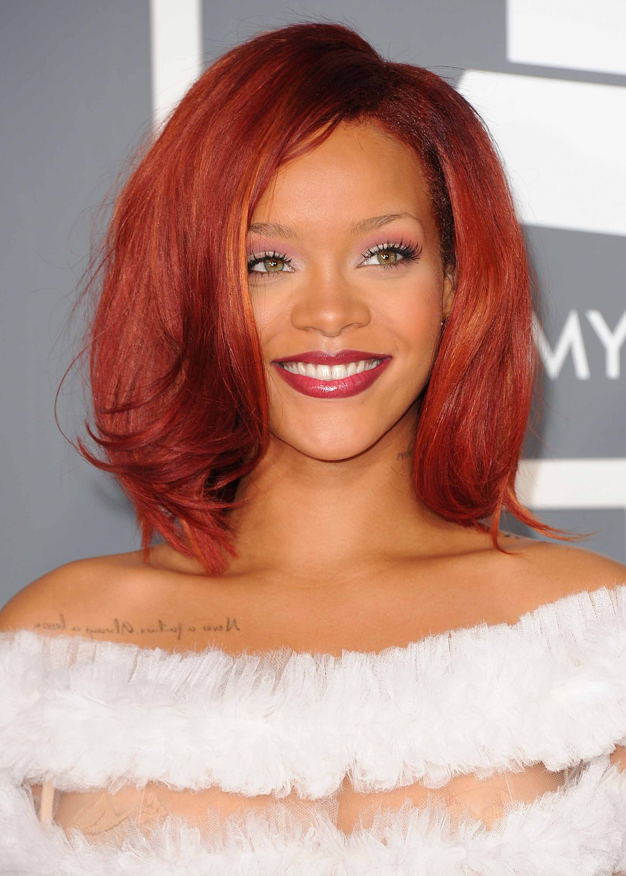 Famous redheads: All Things Hair - IMAGE - Rihanna red bob