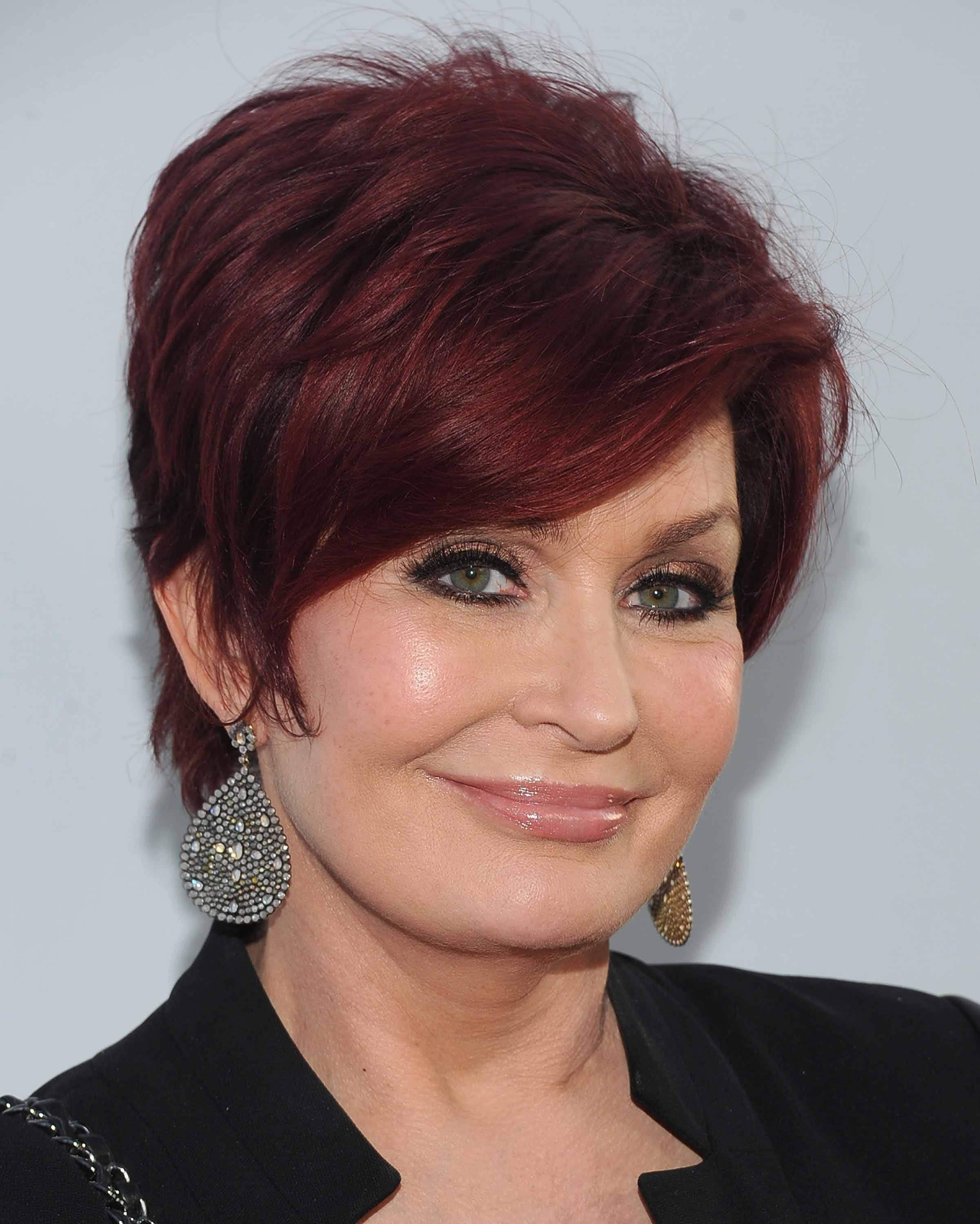 Famous redheads: All Things Hair - IMAGE - Sharon Osbourne red pixie crop