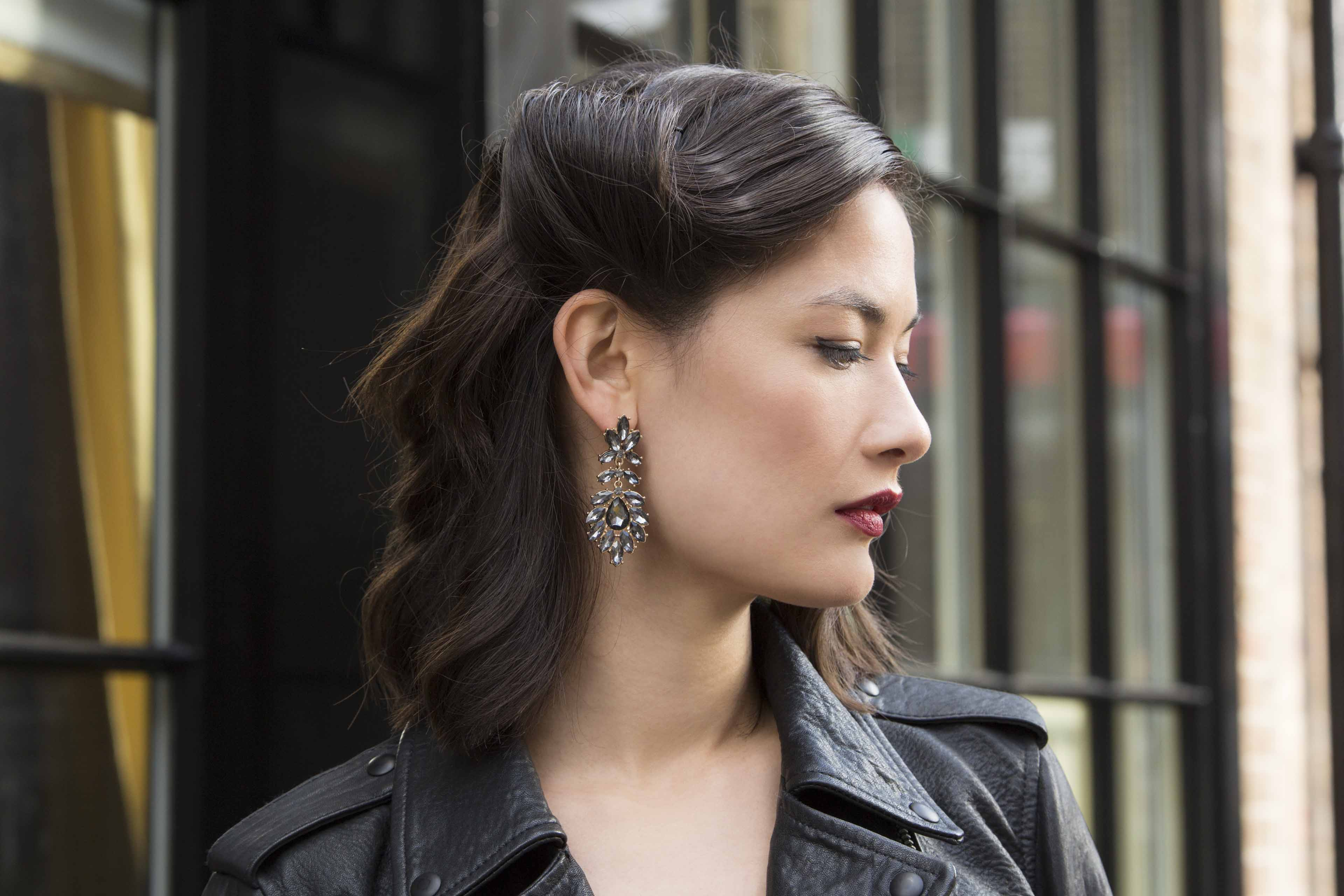 Christmas party hairstyles for short hair: All Things Hair - IMAGE - glamorous vintage retro roll brown hair