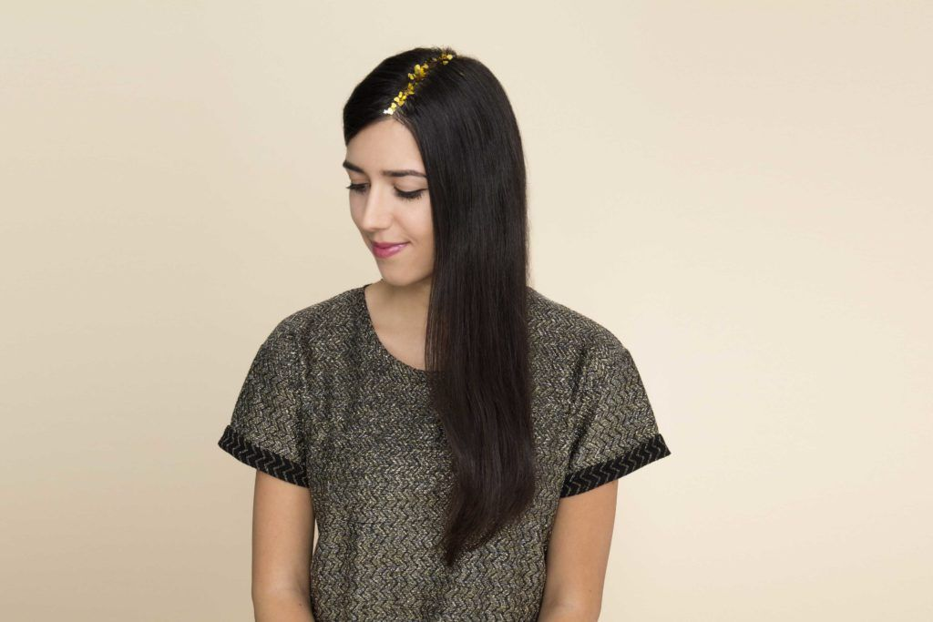 going out hair: All Things Hair - IMAGE - confetti glitter long brown hair straight party glitter roots