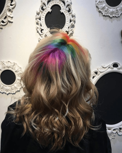 Rainbow roots: All Things Hair - IMAGE - on medium brown hair and waves