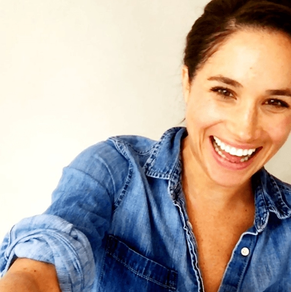 Meghan Markle Insta post of her with her hair up