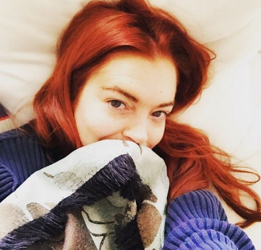Lindsay Lohan red hair: All Things Hair - IMAGE - red ginger hair colour Instagram celebrity