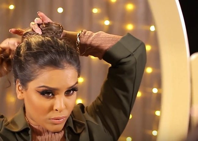 messy braid bun step by step: All Things Hair - IMAGE - N1kk1sSecr3t hair tutorial beauty vlogger long brown hair bun braid
