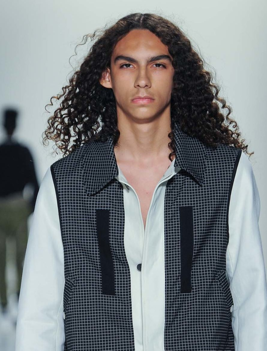 Permed hair: All Things Hair - IMAGE - man with long brown curly hair