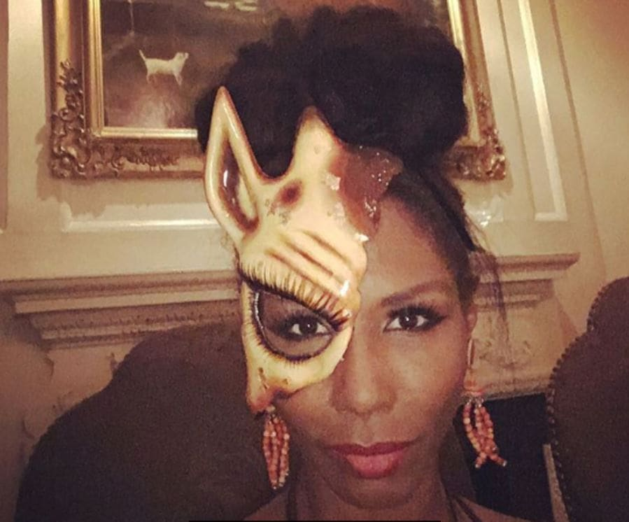 The Animal Ball: All Things Hair - IMAGE - Sinitta Instagram celebrity updo bun head piece