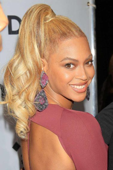 blonde hair with highlights: All Things Hair - IMAGE - Beyonce long wavy ponytail