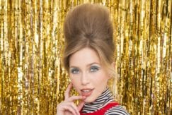 going out hair styles: All Things Hair - IMAGE - New Year's Eve hairstyle bouffant updo light brown hair