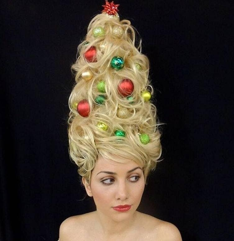 xmas hair: All Things Hair - IMAGE - Christmas tree hair trend