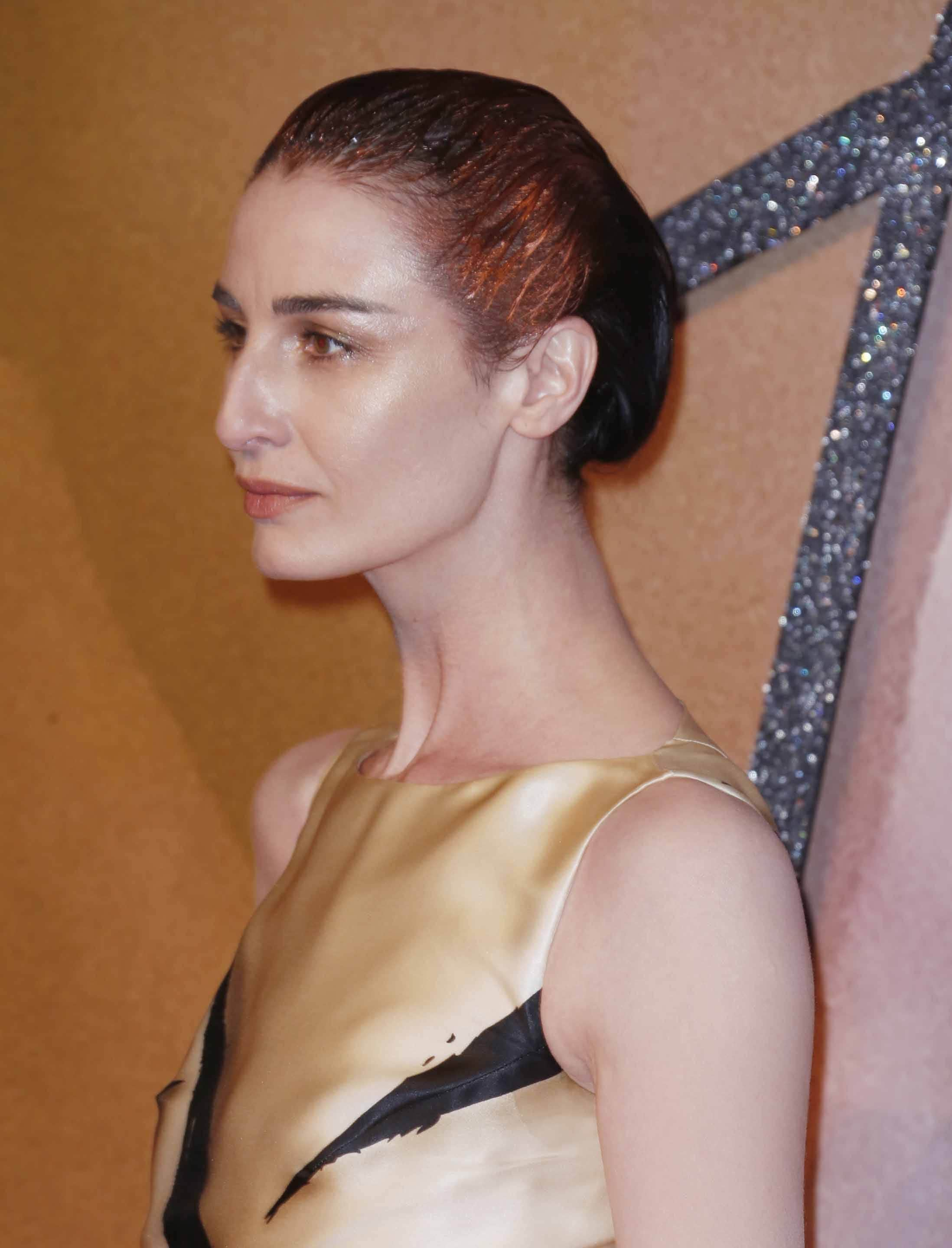 Fashion Awards 2016: All Things Hair - IMAGE - celebrity gallery Erin O'Connor wet look gel updo