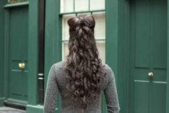 hair bow tutorial: All Things Hair - IMAGE - half-up, half-down updo style long wavy brown hair