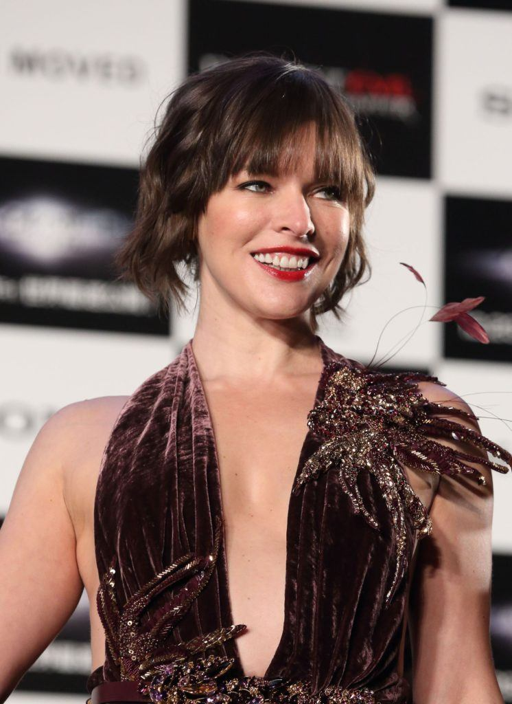 Red carpet hairstyles: All Things Hair - IMAGE - Milla Jovovich Resident Evil The Final Chapter premiere