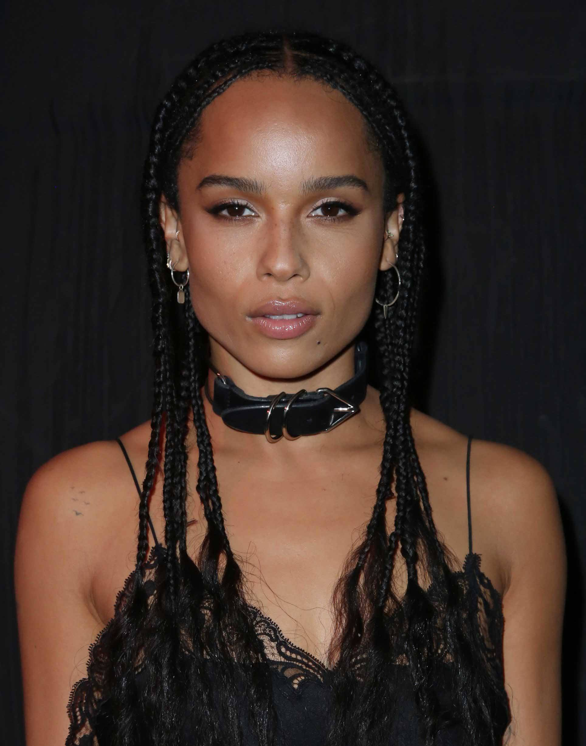 celebrity hair: All Things Hair - IMAGE - 2016 Zoe Kravitz long braids