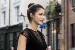 hairstyles for going out: All Things Hair - IMAGE - party New Year's Eve brown hair slick top knot bun