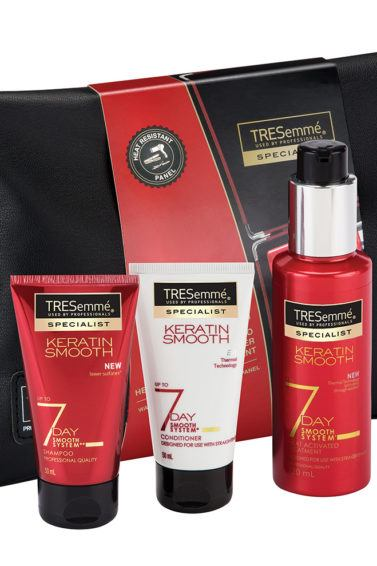 hair gifts Christmas: All Things Hair - IMAGE - TRESemmé 7 Day Smooth Wash Bag Gift Set