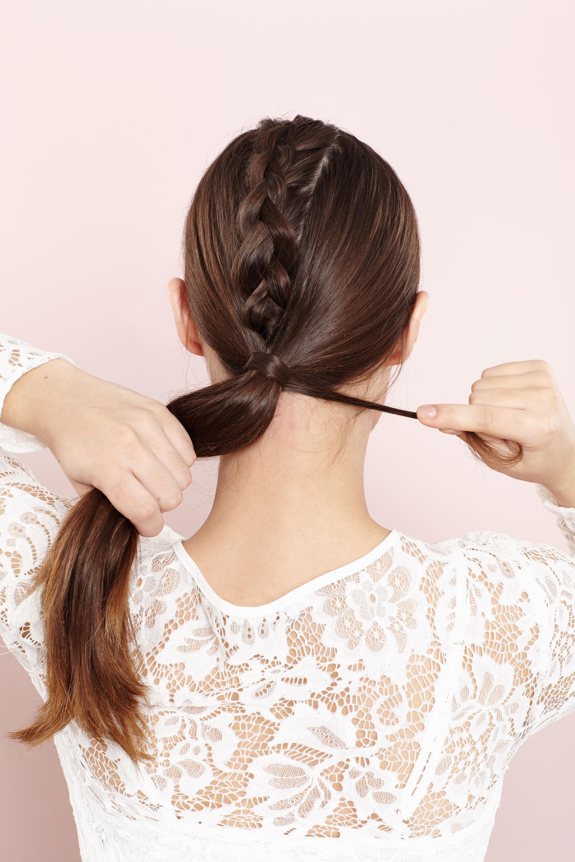 Unicorn braid how to: step 5 braided hairstyle tutorial brown hair