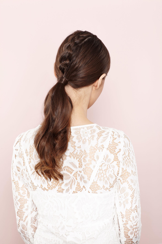 unicorn braids how to: step 8 braided hairstyle tutorial brown hair