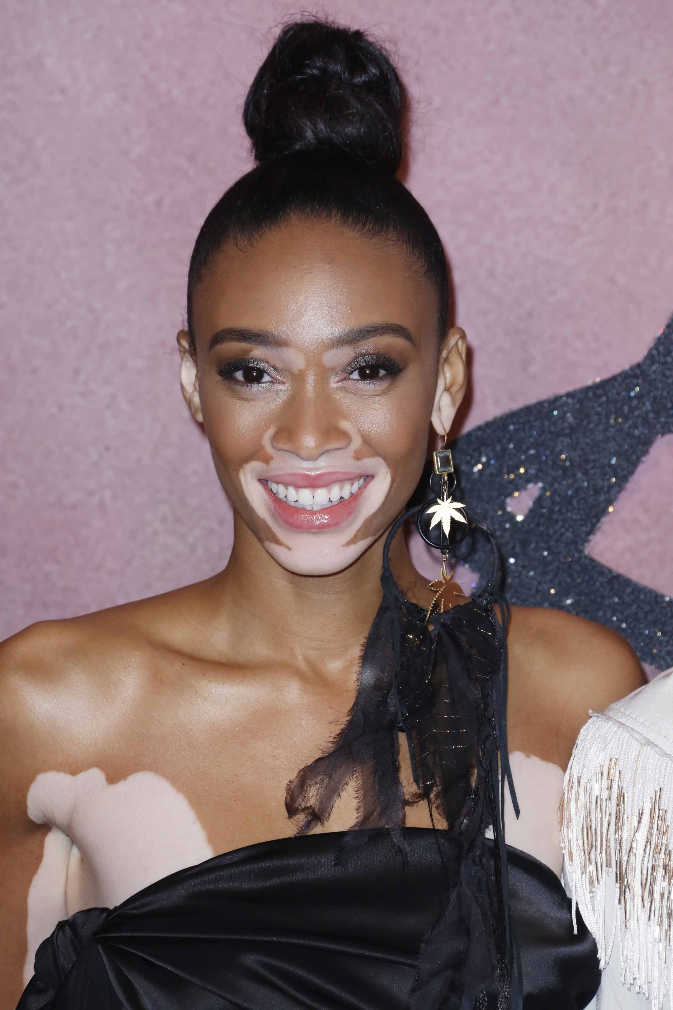 Fashion Awards 2016: All Things Hair - IMAGE - celebrity gallery Winnie Harlow top knot