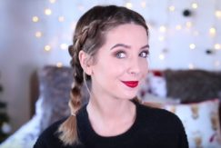 Dutch plaits: All Things Hair - IMAGE - Zoella Style It On vlogger tutorial video braided hairstyle