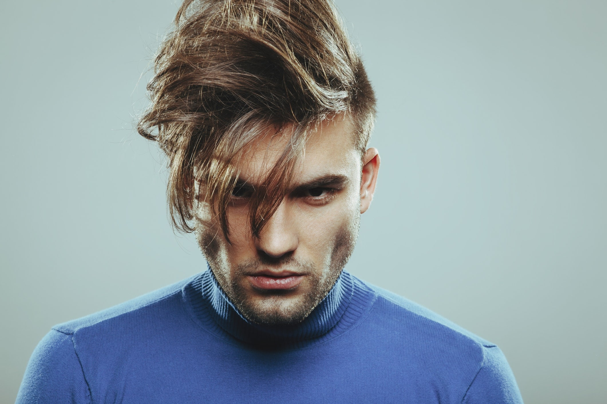 Man with undercut and long fringe