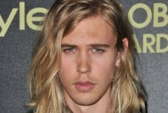 Good hairstyles for men Austin Butler with wavy ombre hairstyle at instyle awards