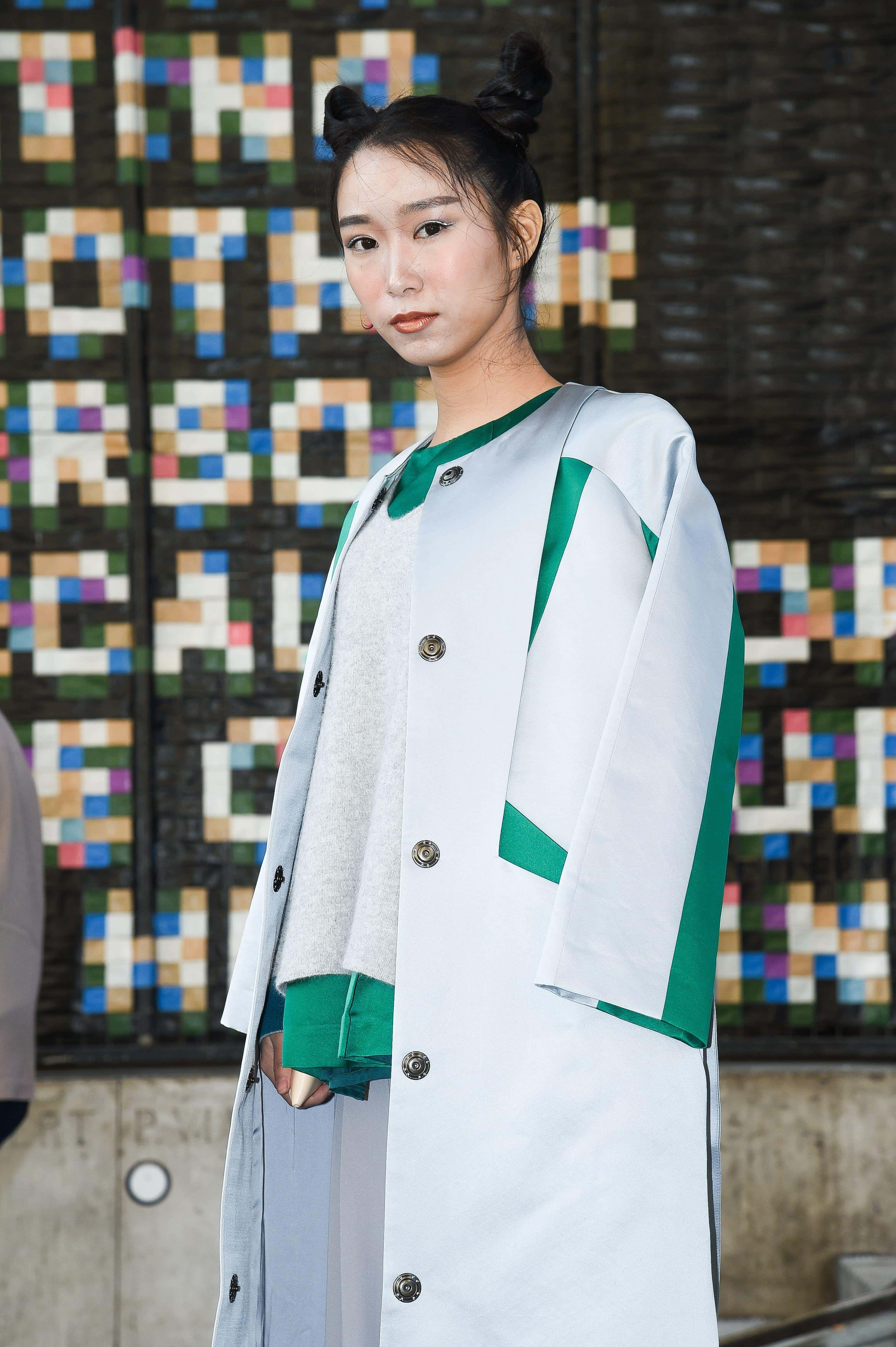 brunette asian hair space buns Haute Couture Fashion Week