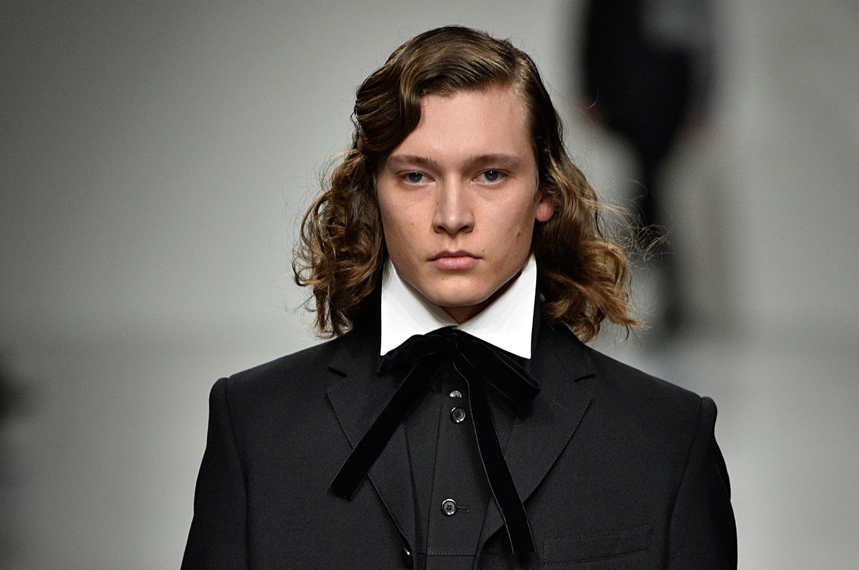 male model with long haircut styles men 2017