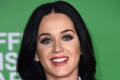 Katy Perry long brown wavy hair
