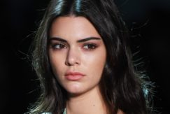 Kendall Jenner with dark shoulder length hair