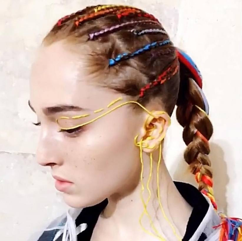 Maison Margiela's Snapchat-inspired plait hairstyles are a ...