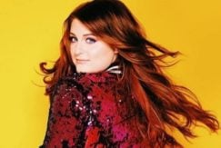 Meghan Trainor long wavy red hair