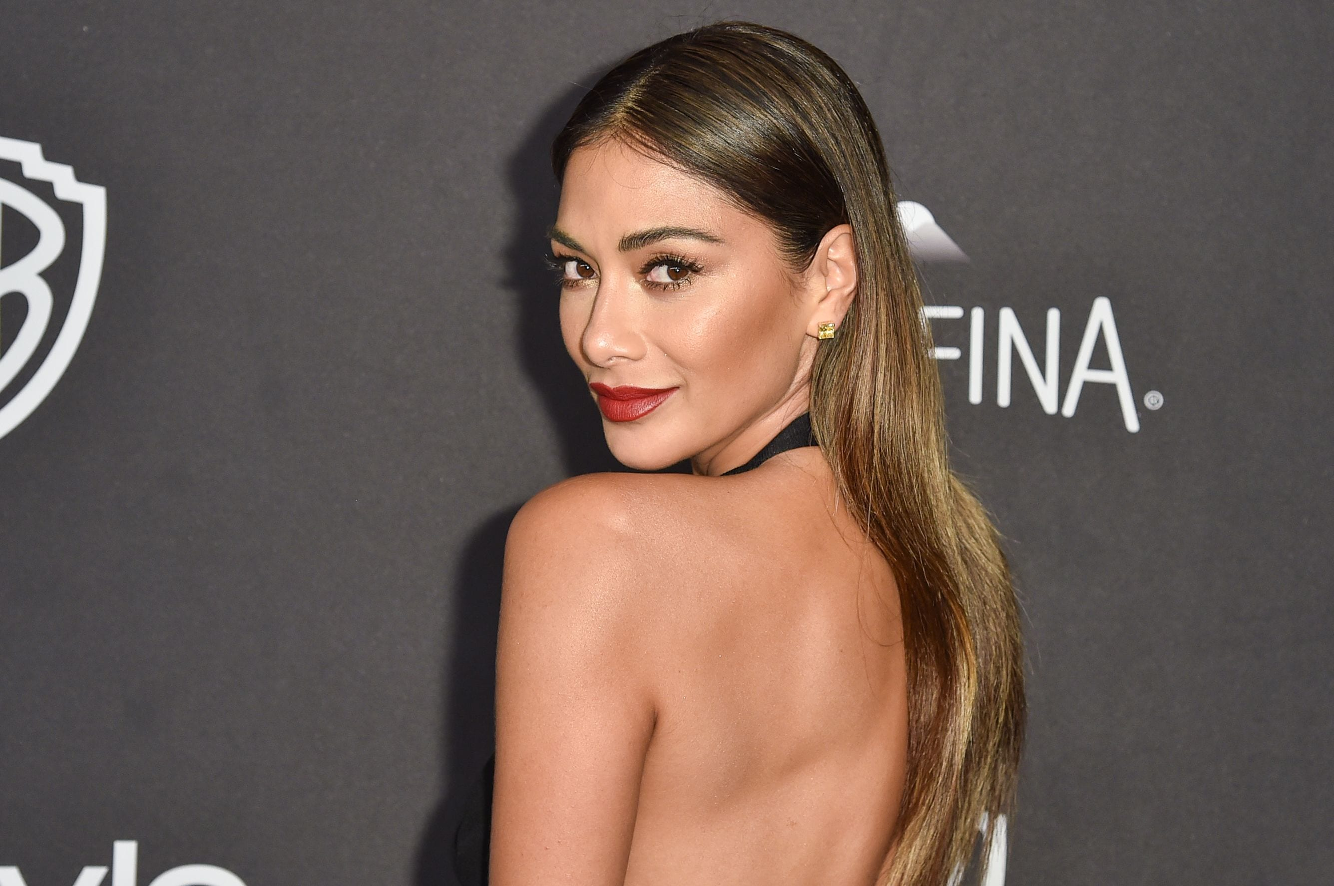 2017 hairstyles: All Things Hair - IMAGE - Nicole Scherzinger long straight brown hair