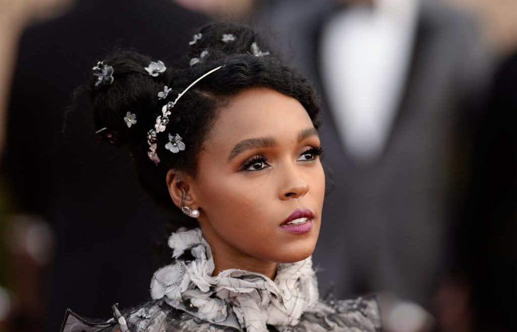 Janelle Monae with decorated space buns