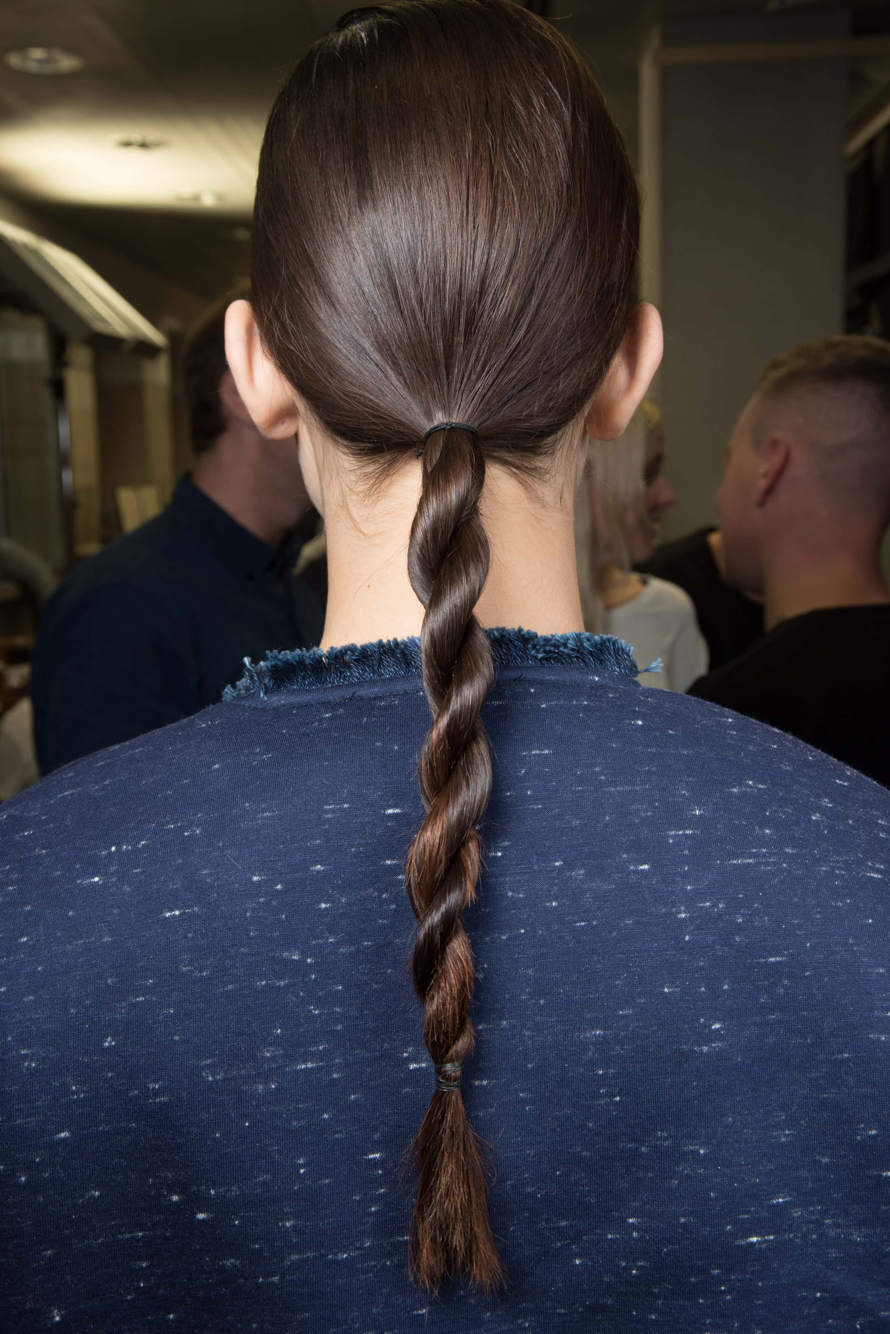 long brown hair low twisted ponytail simple hair styles