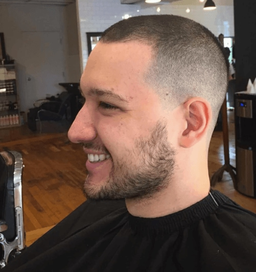 side view image of a man with short cropped hair - cool haircuts