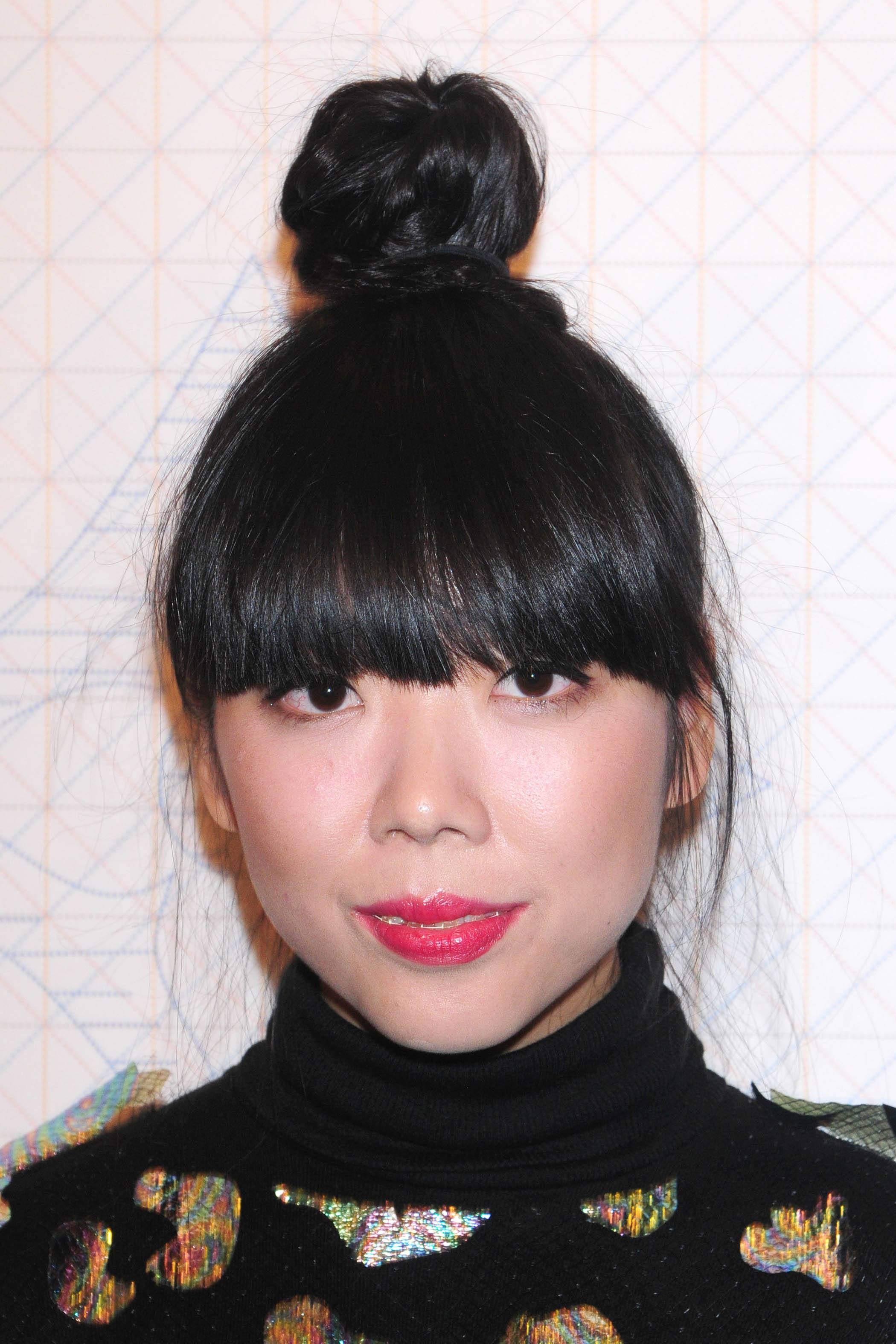 2017 hairstyles: All Things Hair - IMAGE - Susie Bubble updo bun fringe