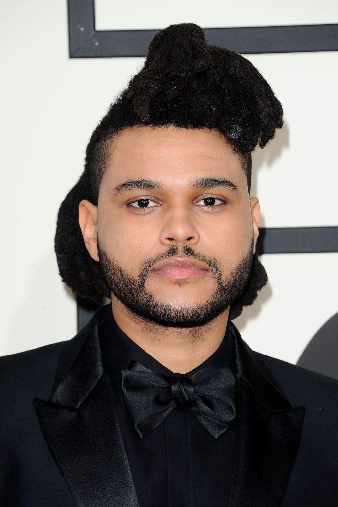 Mens dreadlocks The Weeknd updo