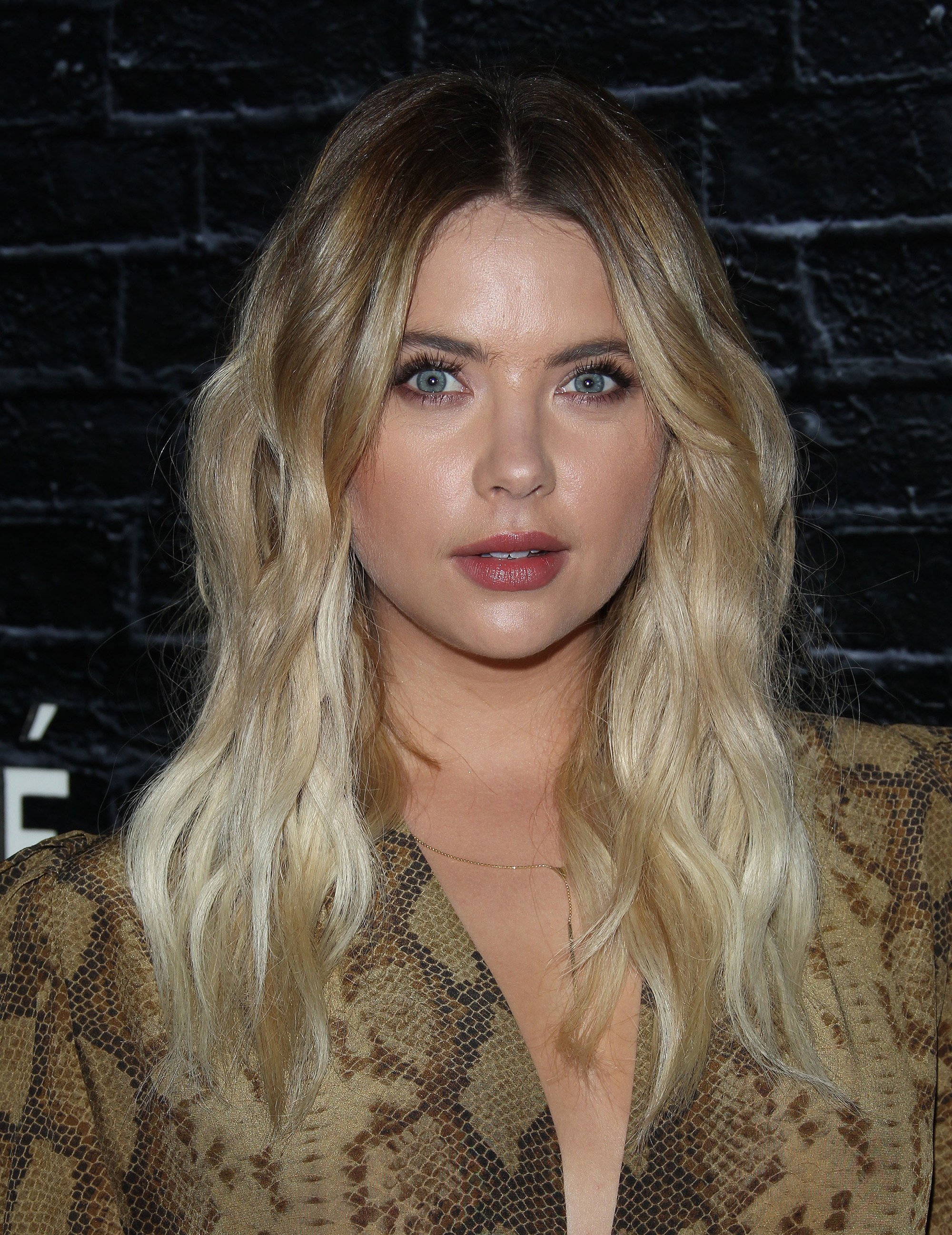 bronde hair: ashley benson with reverse ombre bronde hair colour