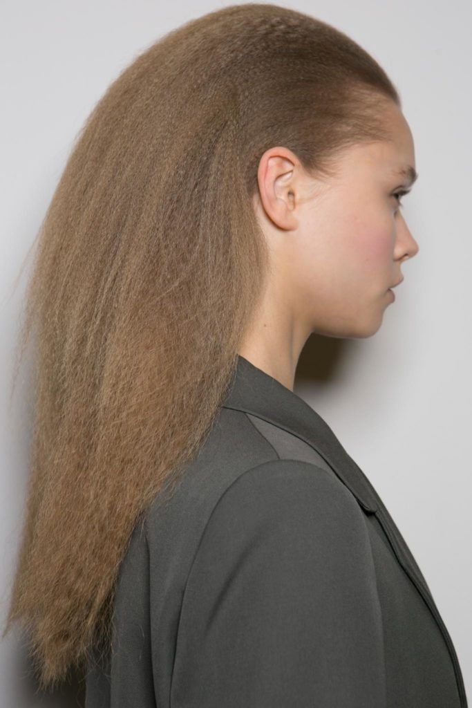 crimping hair styles crimped hairstyle at ports 1961 fashion week 6669
