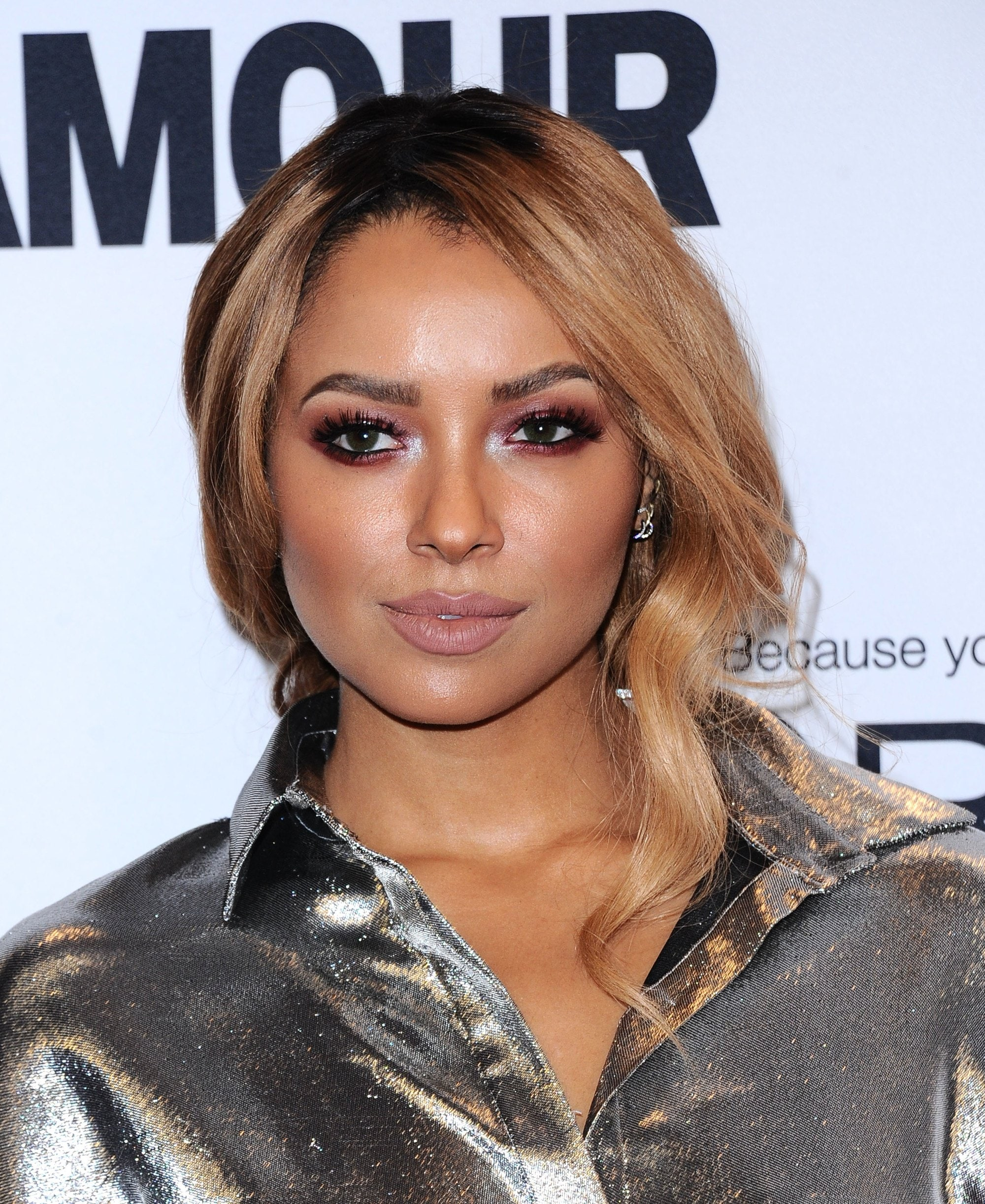 katerina graham with bronde hair colour at glamour awards