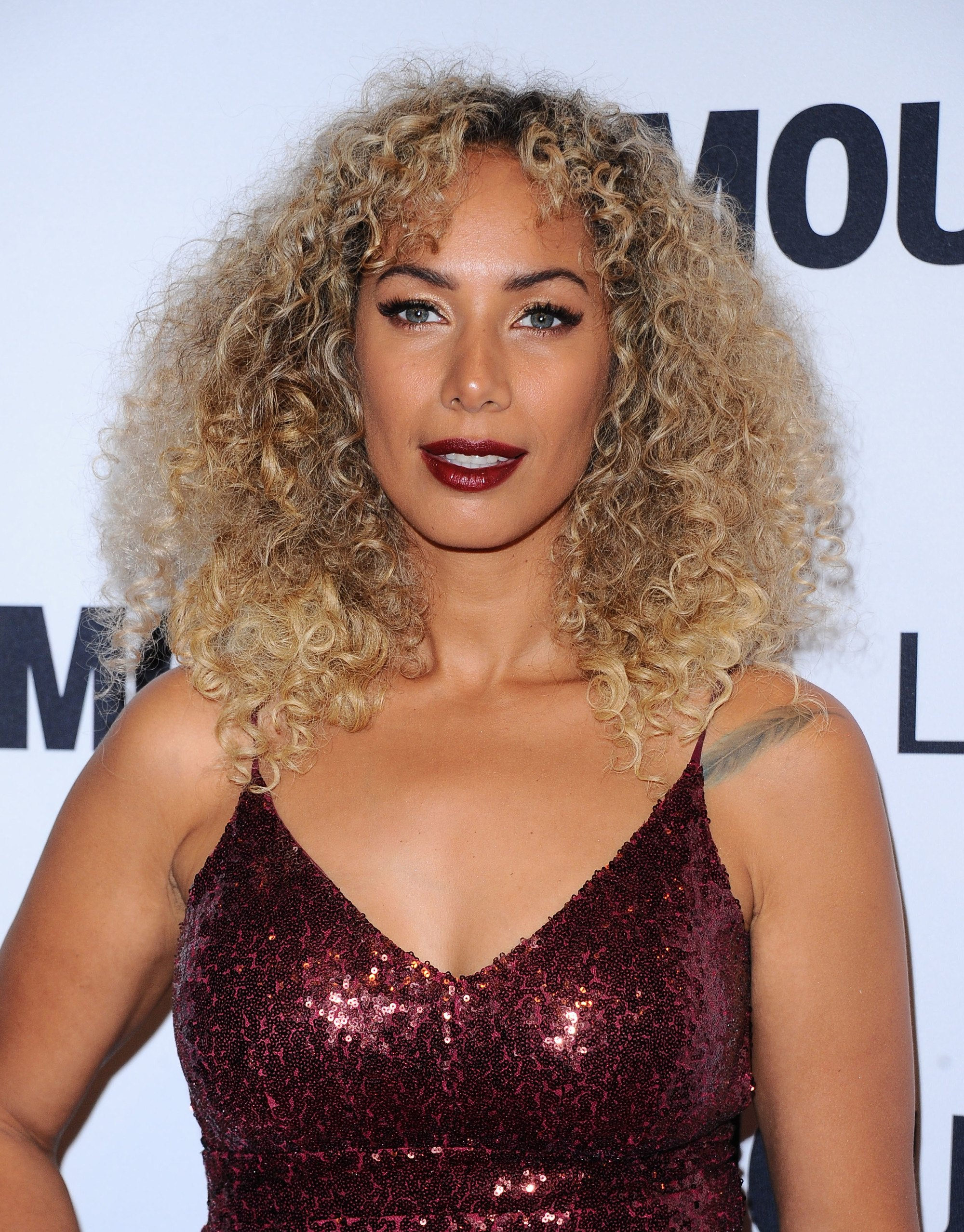 bronde hair colour: leona lewis with bronde curly hair