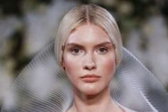 sleek middle part wedding hair 2017 runway