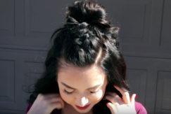 Nikki Phillippi with half up half down braid hairstyle youtube