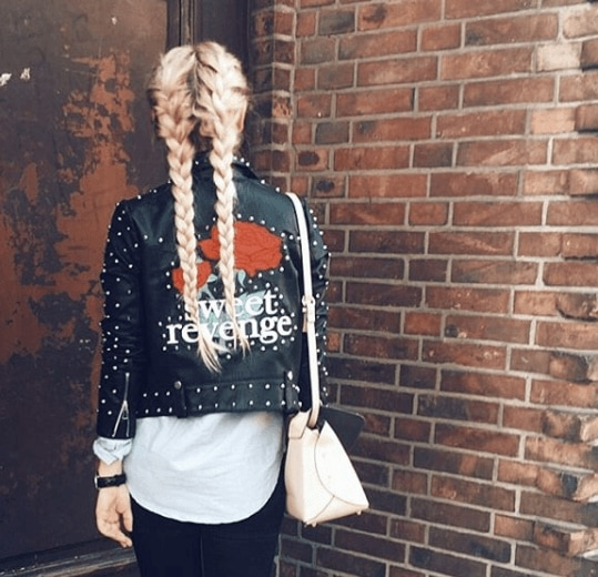 back view image of a woman with long blonde braids - braid hairstyles 2017