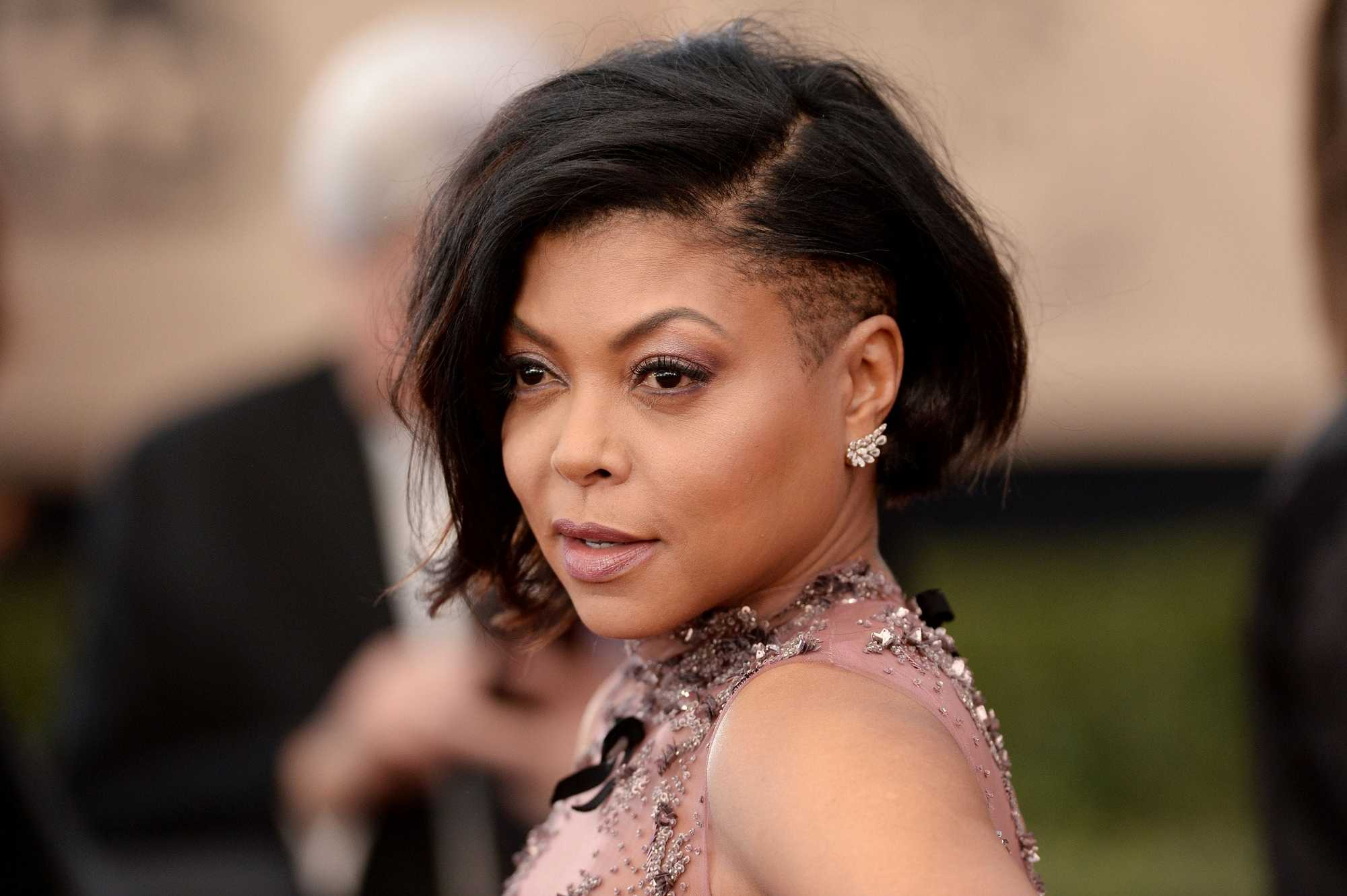 Taraji P. Henson bob and undercut black hair